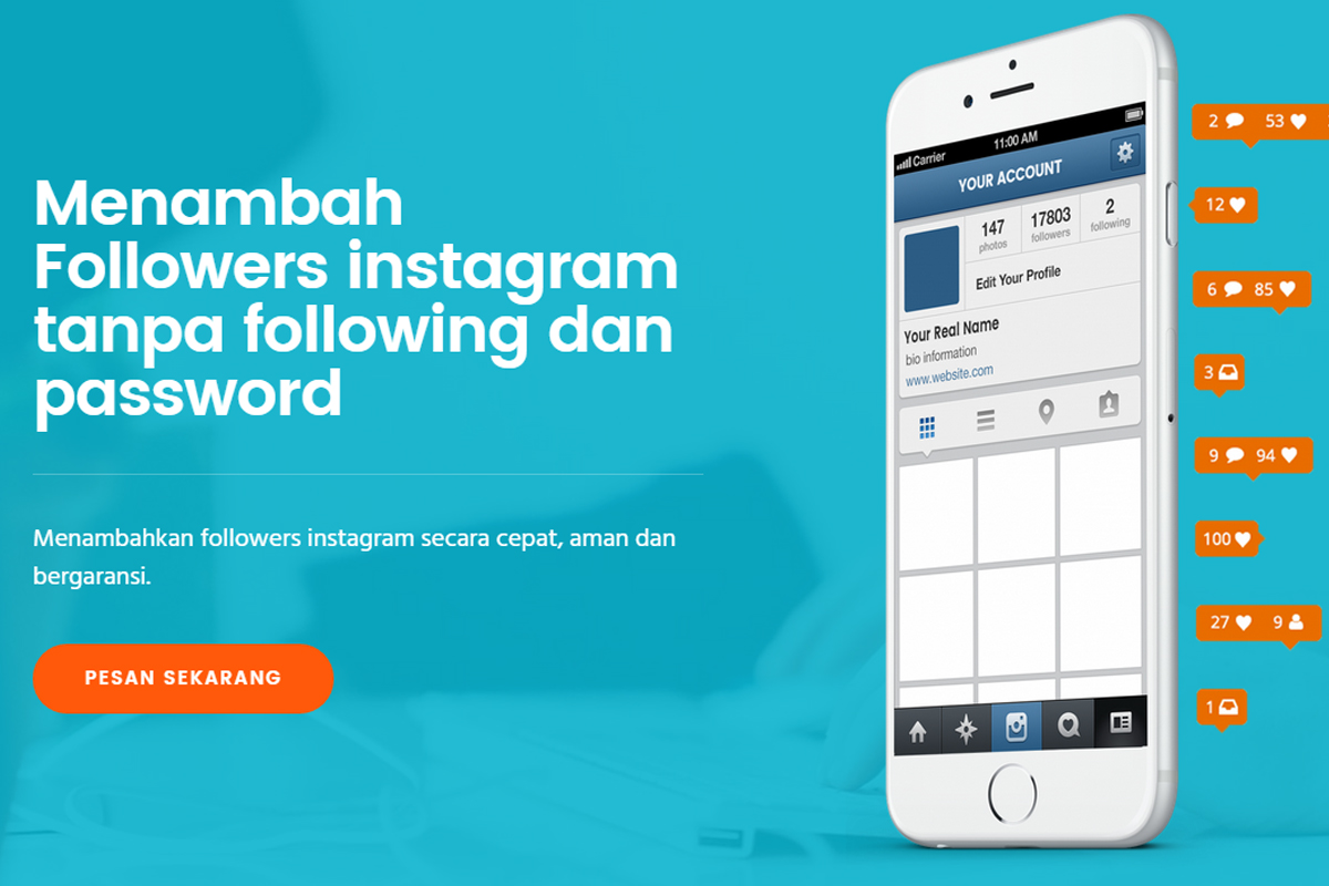 Beli Followers Instagram Aktif Garansi 30 Hari Gratis Followersindo