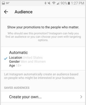 cara menentukan audience iklan di Instagram ads