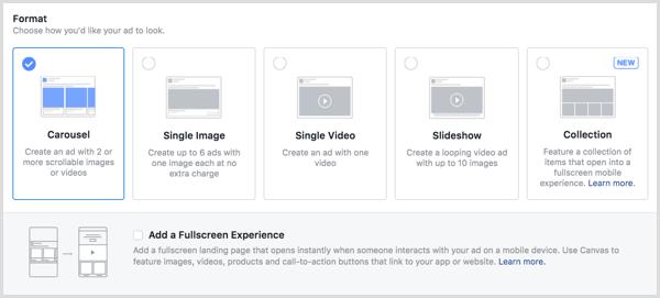 47 pilih format iklan facebook