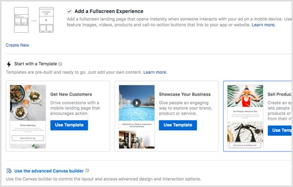 48 iklan di instagram dengan canvas builder