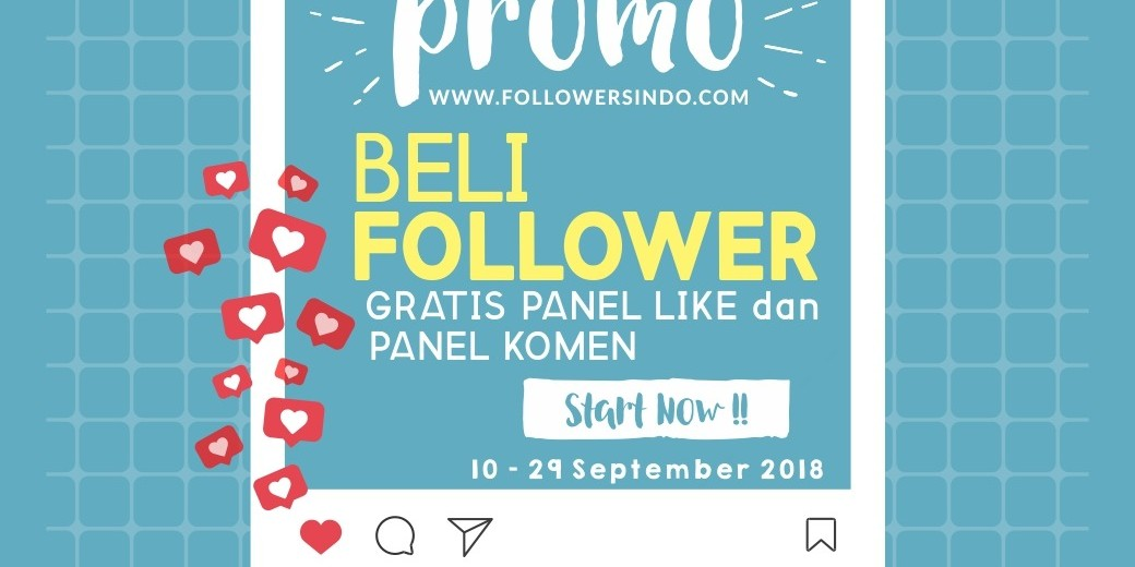 Promo Beli Followers Instagram, gratis panel like dan panel komen