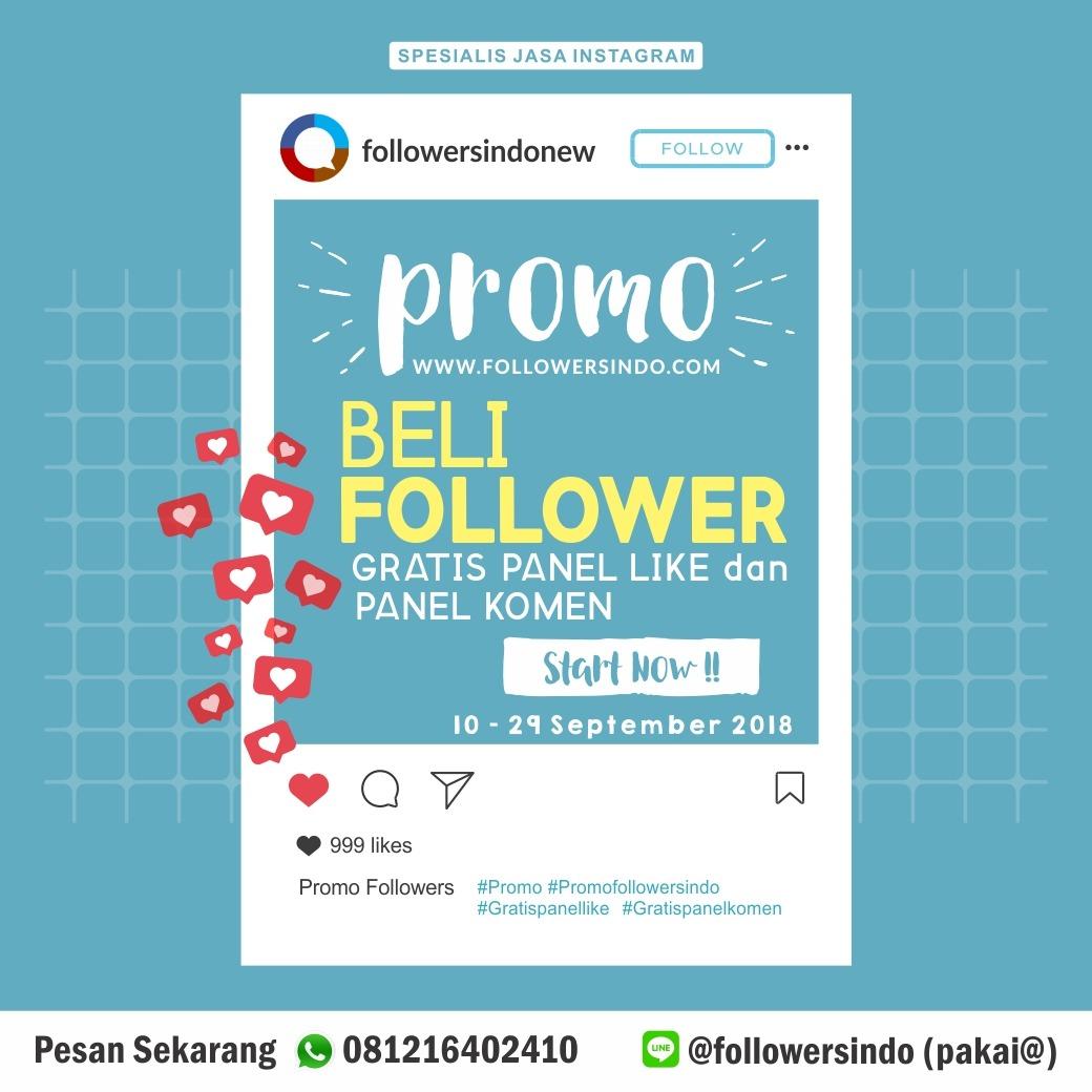 Promo Beli Followers Instagram, gratis panel like dan panel komen