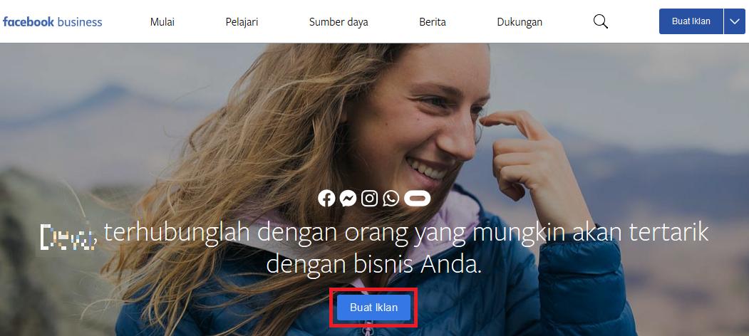 Halaman Facebook Ads Manager Pertama
