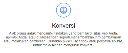 Konversi di Facebook Ads Manager