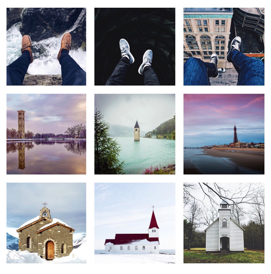 Instagram feed border putih
