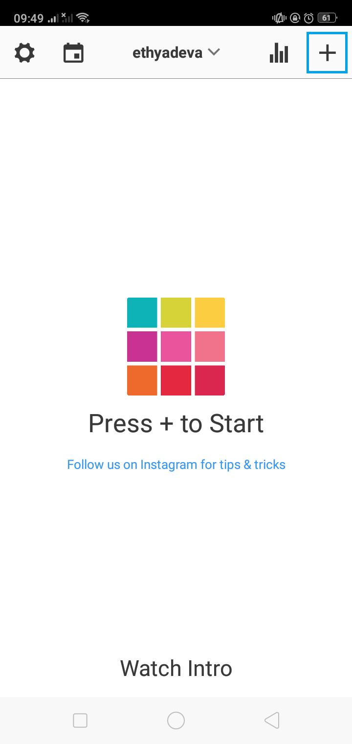 mulai edit foto konten Instagram dengan Preview App