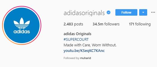 adidas foto profil Instagram