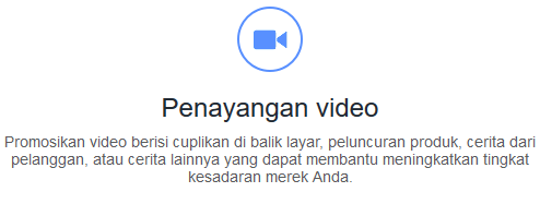 fitur facebook ads manager video views