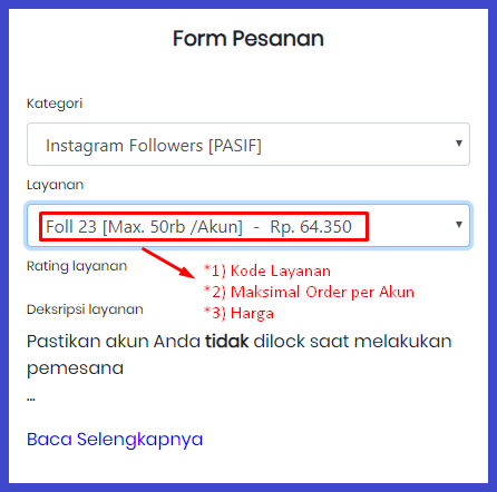 panduan user Followersindo Shop / Jasa Followers Instagram