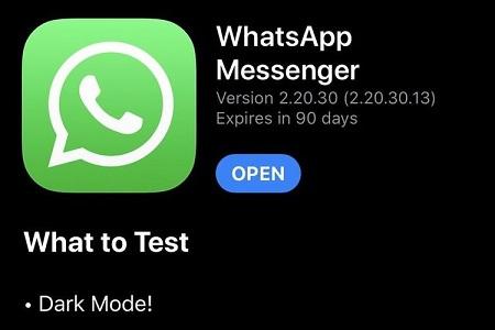 WhatsApp Dark Mode iOS ~ TestFlight